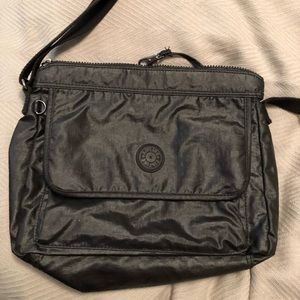 Kipling polished cotton crossbody bag